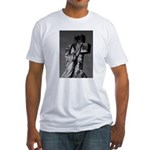 Cemetery sculpture Fitted T-Shirt