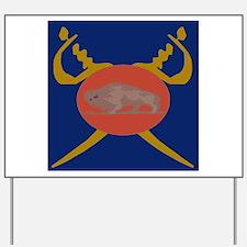 Buffalo Soldier Badge Yard Sign