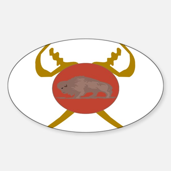 Buffalo Soldier Badge Oval Decal