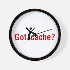 Got Cache? Red Wall Clock