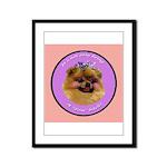 Pomeranian Bitch! Framed Panel Print