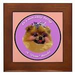 Pomeranian Bitch! Framed Tile