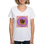 Pomeranian Bitch! Women's V-Neck T-Shirt