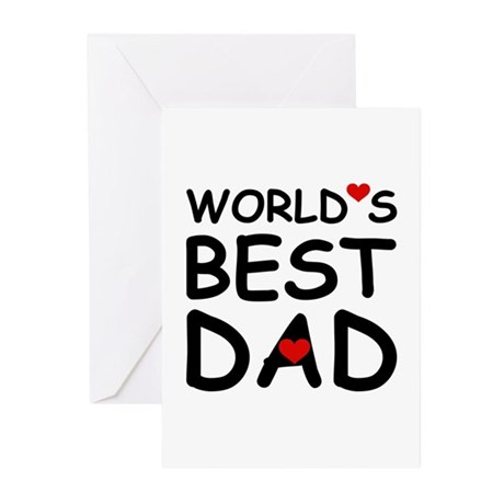 WORLD'S BEST DAD Greeting Cards (Pk of 20)