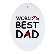 WORLD'S BEST DAD Oval Ornament