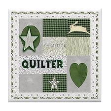 Primitive quilter Tile Coaster