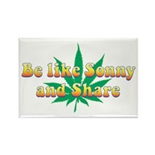 Be Like Sonny and Share Rectangle Magnet