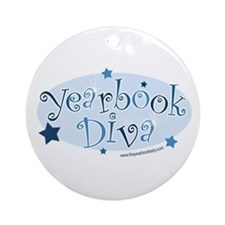 Cute Teacher graphics Ornament (Round)