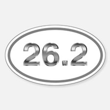26.2 Marathon Runner Oval Oval Sticker (10 pk)