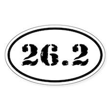26.2 Marathoner Runner Oval Oval Decal