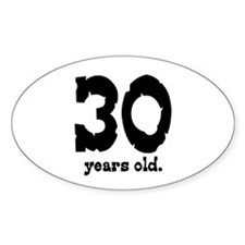 30 Years Old Oval Decal