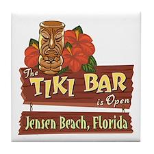 Jensen Beach Tiki Bar - Tile Coaster