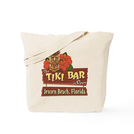 Jensen Beach Tiki Bar - Tote or Beach Bag