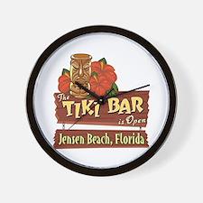 Jensen Beach Tiki Bar - Wall Clock
