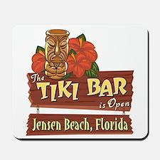 Jensen Beach Tiki Bar - Mousepad