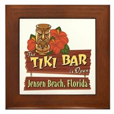 Jensen Beach Tiki Bar - Framed Tile
