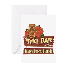 Jensen Beach Tiki Bar - Greeting Card