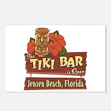 Jensen Beach Tiki Bar - Postcards (Package of 8)