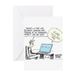 Dad's Computer Greeting Card