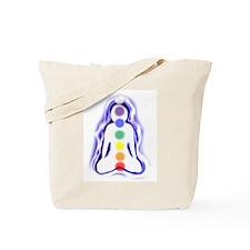 Meditating Spirit with Chakras Tote Bag