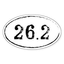26.2 Marathon Runner Oval Oval Decal