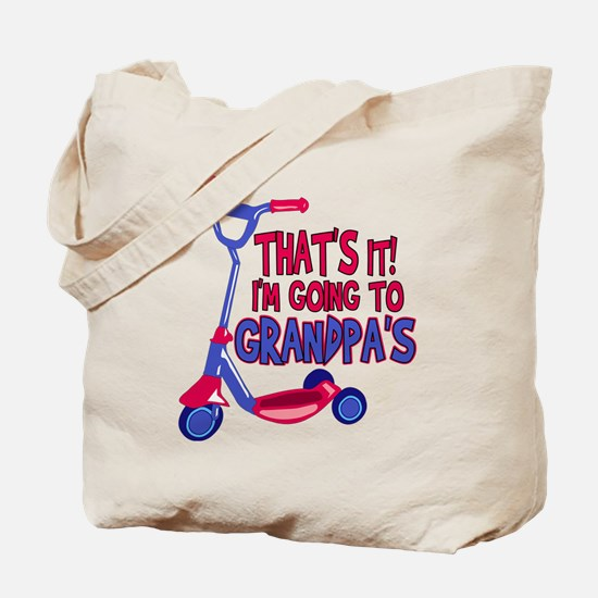 Going To Grandpa's Tote Bag
