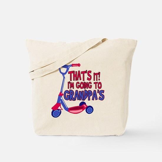 Going To Grandpa's Tote Bag