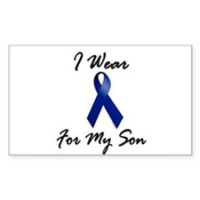 I Wear Blue For My Son 1 Rectangle Decal