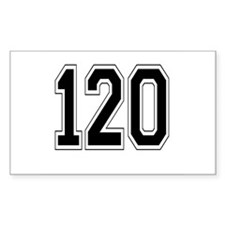 120 Rectangle Decal