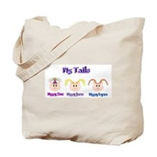 Cute Pig tails Tote Bag