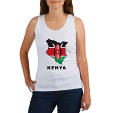 Map Of Kenya Women's Tank Top