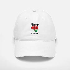 Map Of Kenya Baseball Baseball Cap