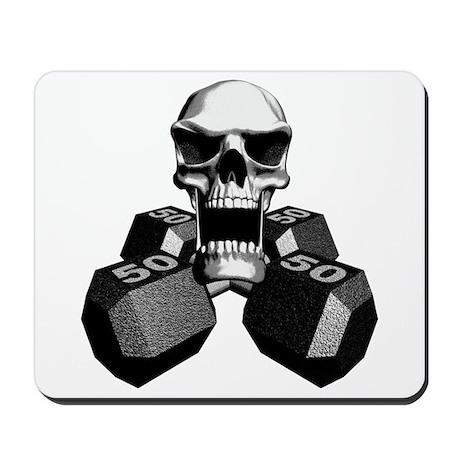 Workout Skull Mousepad