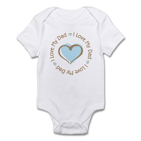 I Love my Dad Blue Heart Infant Bodysuit