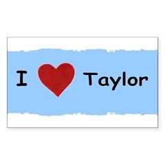 I LOVE TAYLOR Rectangle Sticker 10 pk)