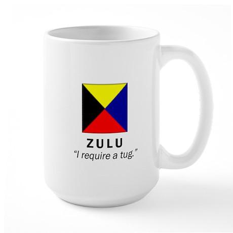 """Large Mug with """"ZULU"""" Design on Back"""