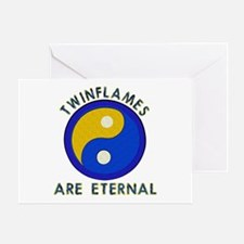 ...Twinflames... Greeting Card