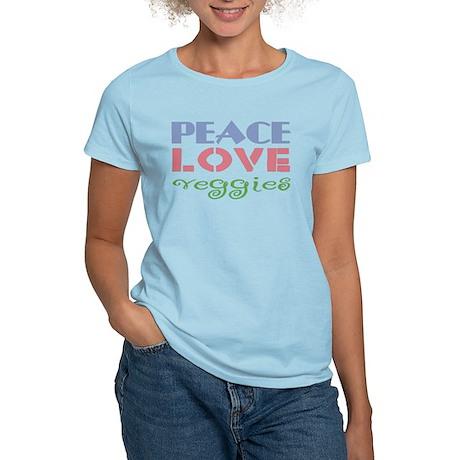 Peace Love Veggies Women's Light T-Shirt