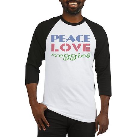 Peace Love Veggies Baseball Jersey