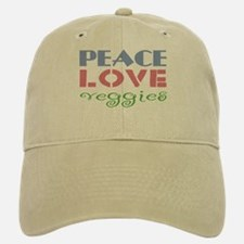 Peace Love Veggies Baseball Baseball Cap
