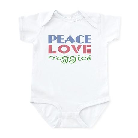 Peace Love Veggies Infant Bodysuit