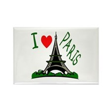 ...I Love Paris... Rectangle Magnet