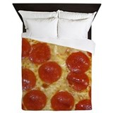 Pizza pattern Luxe Full/Queen Duvet Cover