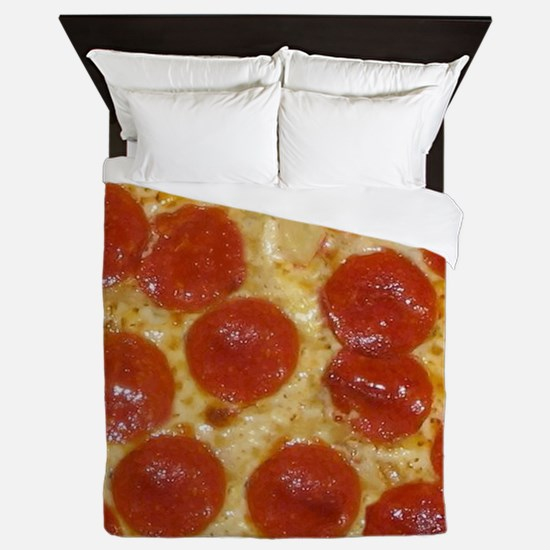 Funny Pepperoni Queen Duvet