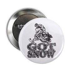 "Got Snow Distressed black 2.25"" Button"