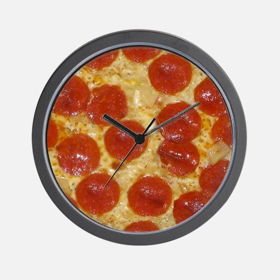 Funny Pepperoni Wall Clock