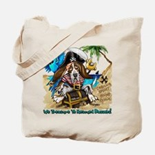 Unique Basset hound on beach Tote Bag