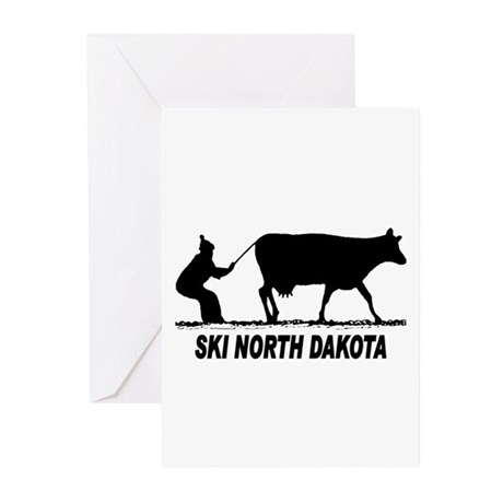 Ski North Dakota Greeting Cards (Pk of 20)