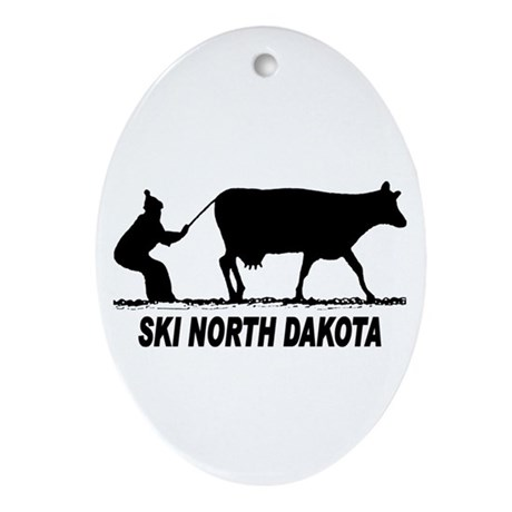 Ski North Dakota Oval Ornament