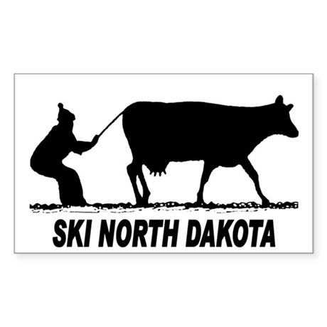 Ski North Dakota Rectangle Sticker